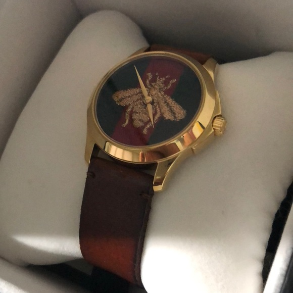 35cacf684b Gucci Accessories | Le March Des Merveilles Leather Watch New | Poshmark